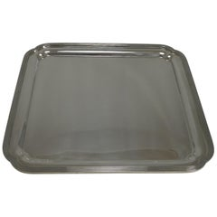 Vintage English Art Deco Silver Plated Square Salver / Tray by Elkington, 1938