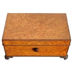 Vintage English Burl Cigar Box by Dunhill, 1930s