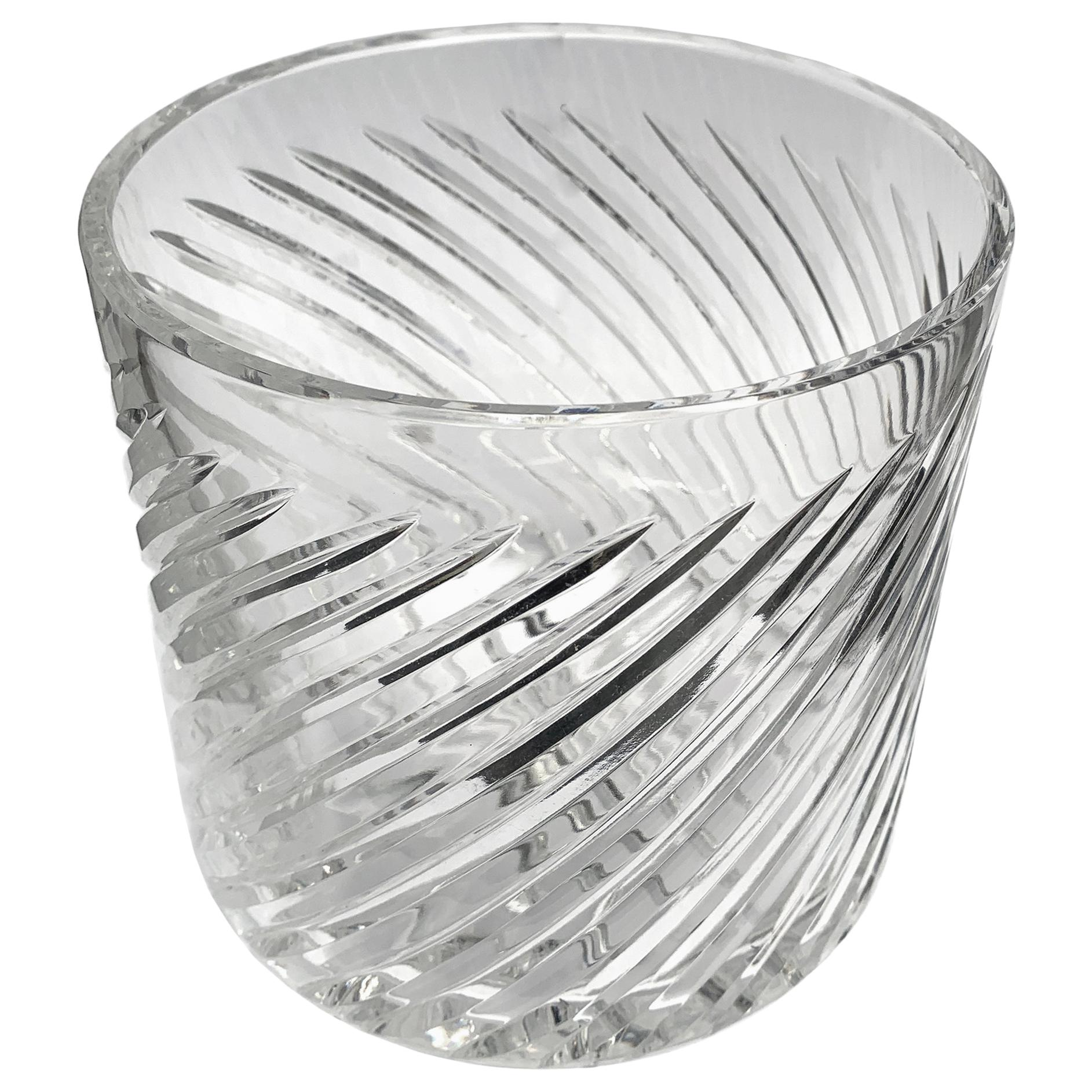 Vintage English Crystal Ice Bucket