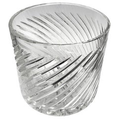 Vintage English Crystal Ice Bucket