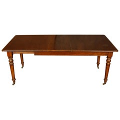 Vintage English Dining Table with One Leaf