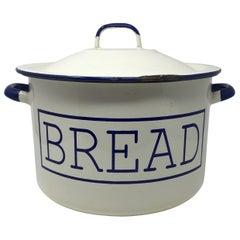 Vintage English Enamel Bread Bin
