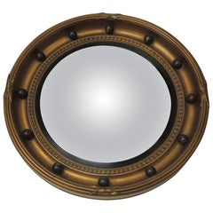 Vintage English Federal Style Bulls Eye Mirror