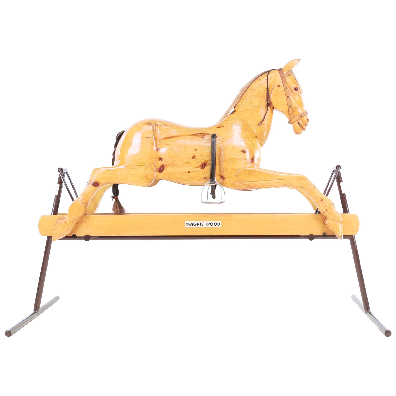 Vintage English Handmade Childs Rocking Horse