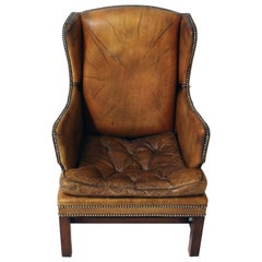 Vintage English Library Chair
