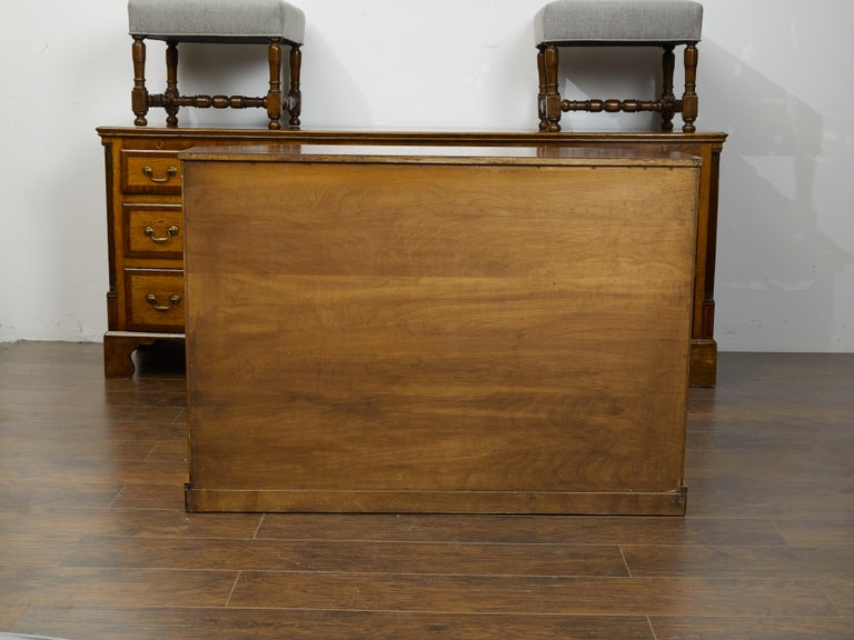 Vintage English Midcentury Rosewood Credenza with Canted Side Panels For Sale 5