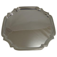 Vintage English Silver Plated Cocktail / Drinks Tray, circa 1920
