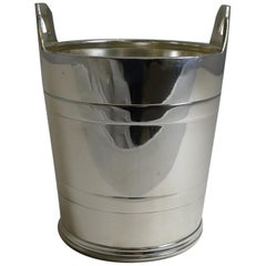 Vintage English Silver Plated Ice Bucket by Elkington and Co.