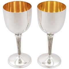Vintage English Sterling Silver Goblets