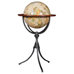 Vintage English Style Old World Globe on Stand, 20th Century