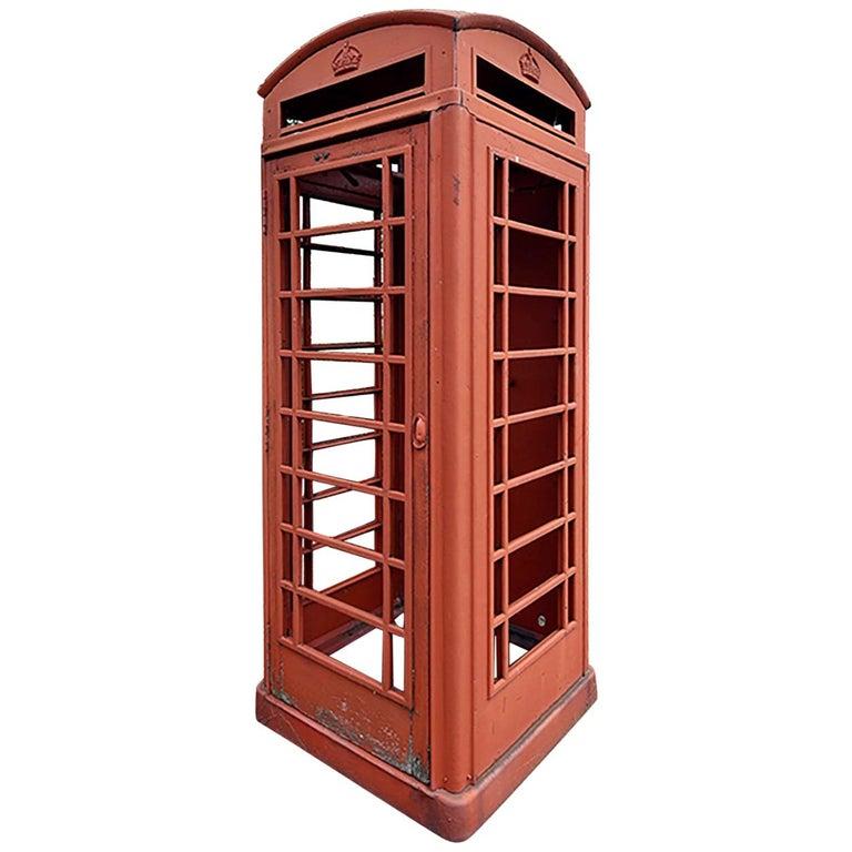 Vintage English Telephone Booth, 19th Century