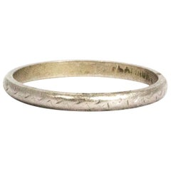 Vintage Engraved Platinum Band
