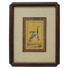Vintage Engraving of Cranes Stamped Oriental Birds by Winsor Art