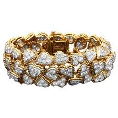 Vintage Van Cleef & Arpels 'Entwined Diamond Hearts' Bracelet