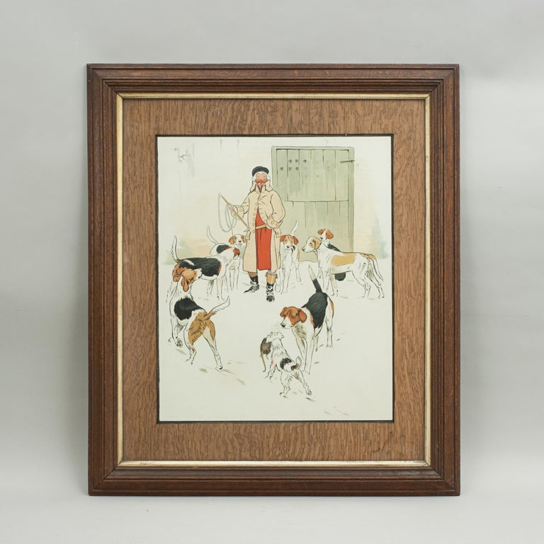 Vintage Equestrian, Cecil Aldin Hunting Print, Every Dog Has His Day For Sale 3