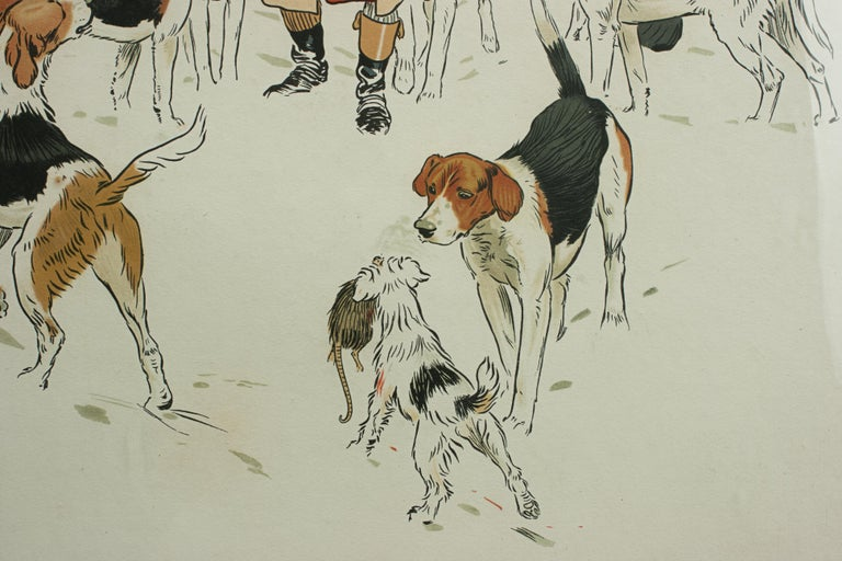 Vintage Equestrian, Cecil Aldin Hunting Print, Every Dog Has His Day For Sale 1