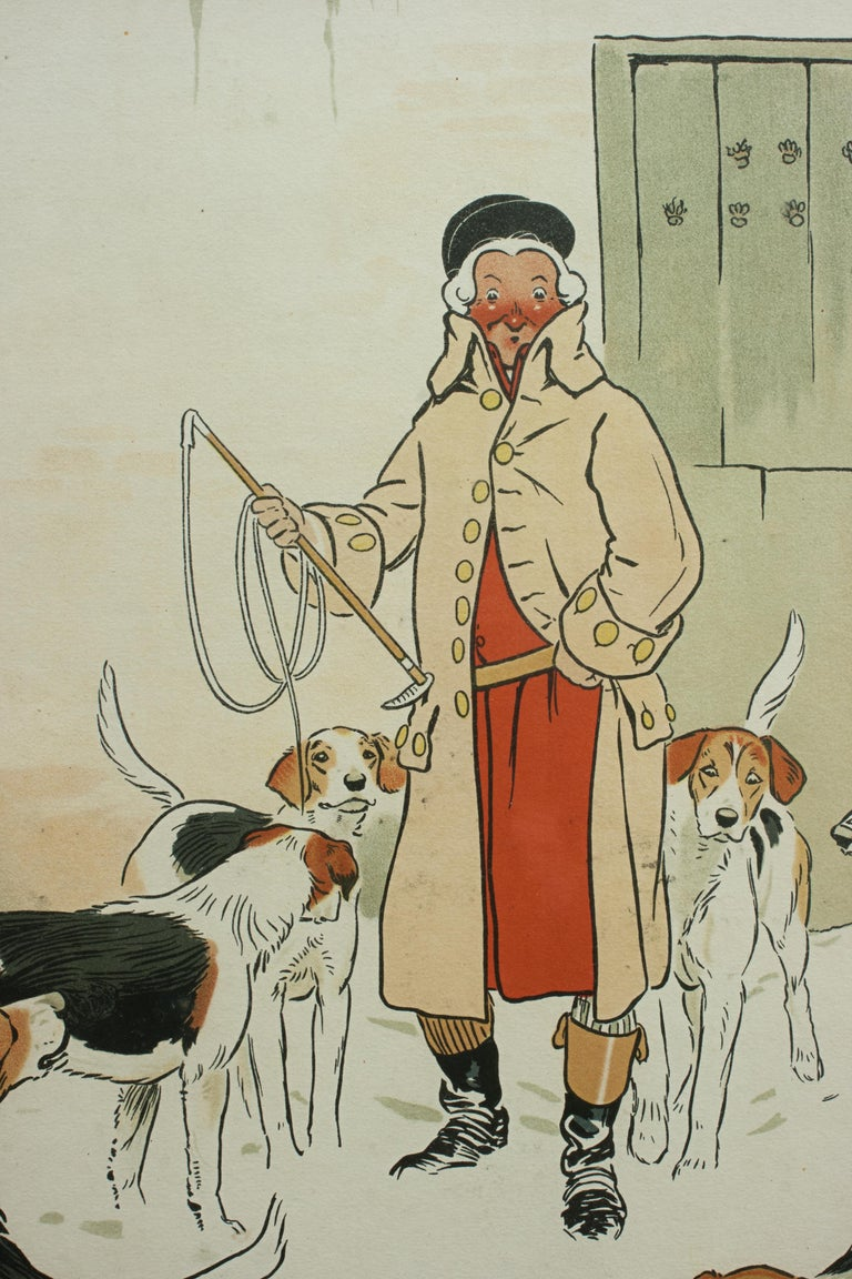 Vintage Equestrian, Cecil Aldin Hunting Print, Every Dog Has His Day For Sale 2