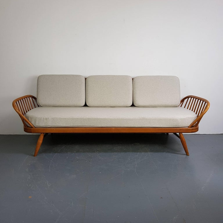 Antique Ercol Sofa: Vintage Ercol 355 Studio Couch Sofa Bed In Beech With Grey