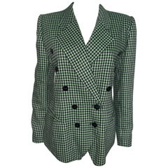 Vintage Escada Couture Wool checked Jacket