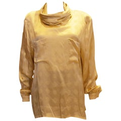 Vintage Escada Gold Silk Top