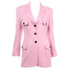 Vintage Escada Margaretha Ley Pink Longline Blazer Jacket