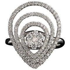 Vintage Estate 14 Karat White Gold Diamond Ring