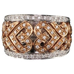 Vintage Estate 18 Karat Two-Tone Gold Diamond Ring
