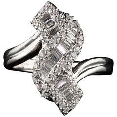 Vintage Estate 18 Karat White Gold Diamond Ring
