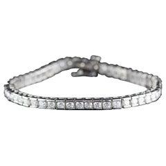 Vintage Estate Platinum Diamond Tennis Bracelet