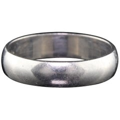 Vintage Estate Platinum Wedding Band