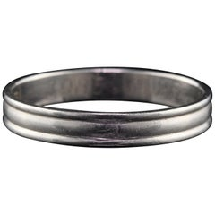 Vintage Estate Platinum Wedding Band, Unisex, circa 1985