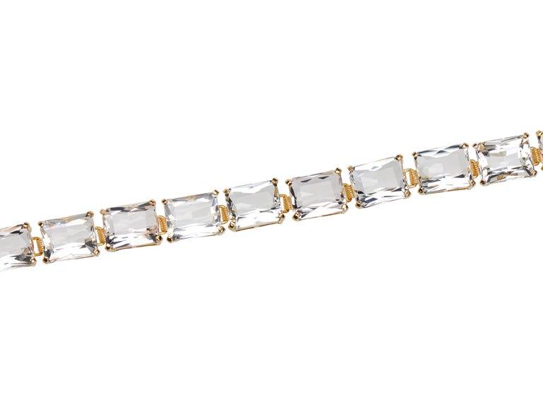 Modern Vintage Estate Rock Crystal Bracelet For Sale