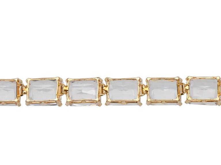Vintage Estate Rock Crystal Bracelet For Sale 1