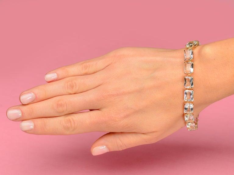 Vintage Estate Rock Crystal Bracelet For Sale 3