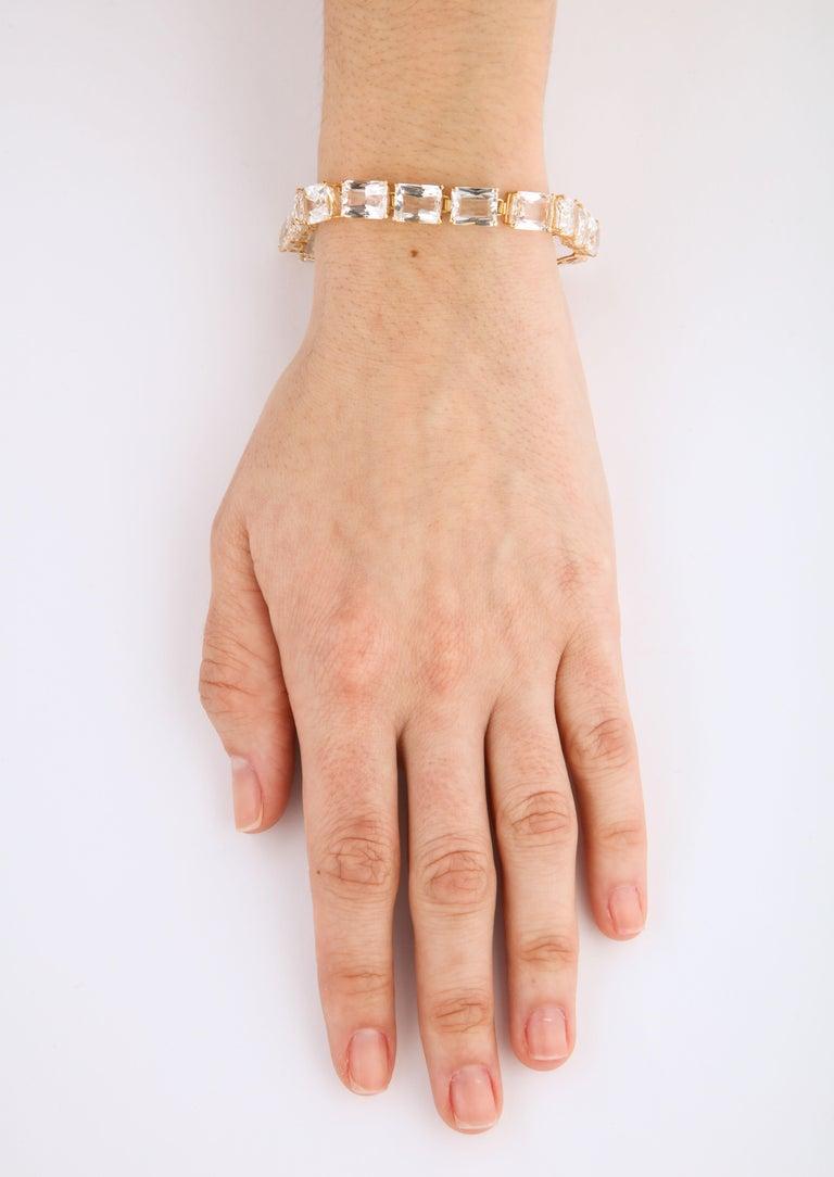 Vintage Estate Rock Crystal Bracelet For Sale 4