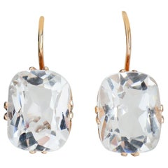 Vintage Estate Rock Crystal Earrings