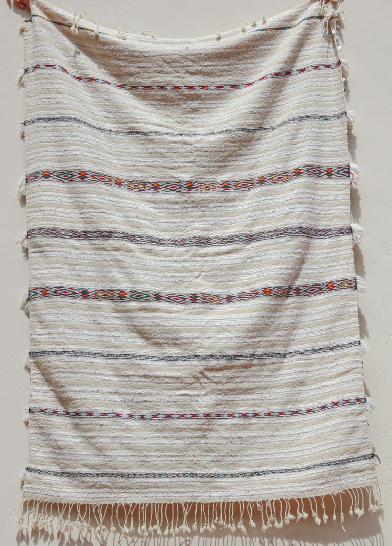 Vintage Ethnic Moroccan Wedding Berber Shawl For Sale 9