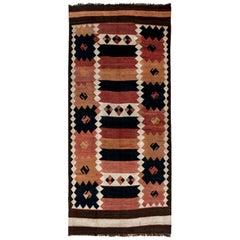 Vintage Etno Turkish Kilim Handwoven Wool Rug