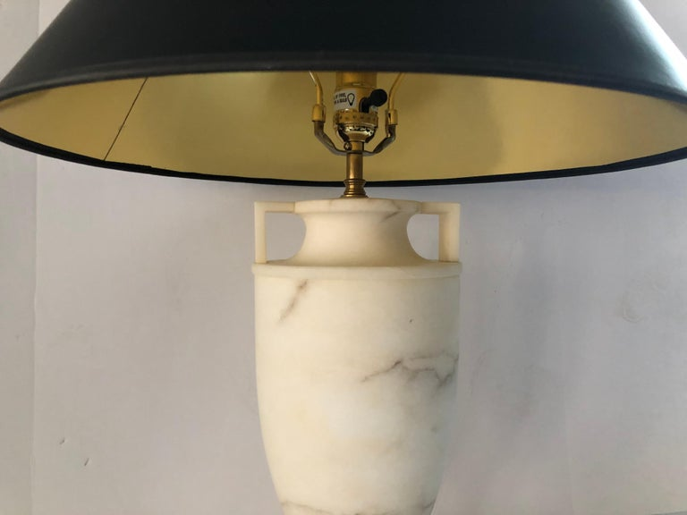 Contemporary Etruscan Alabaster Urn Lamp by Vaughn For Sale