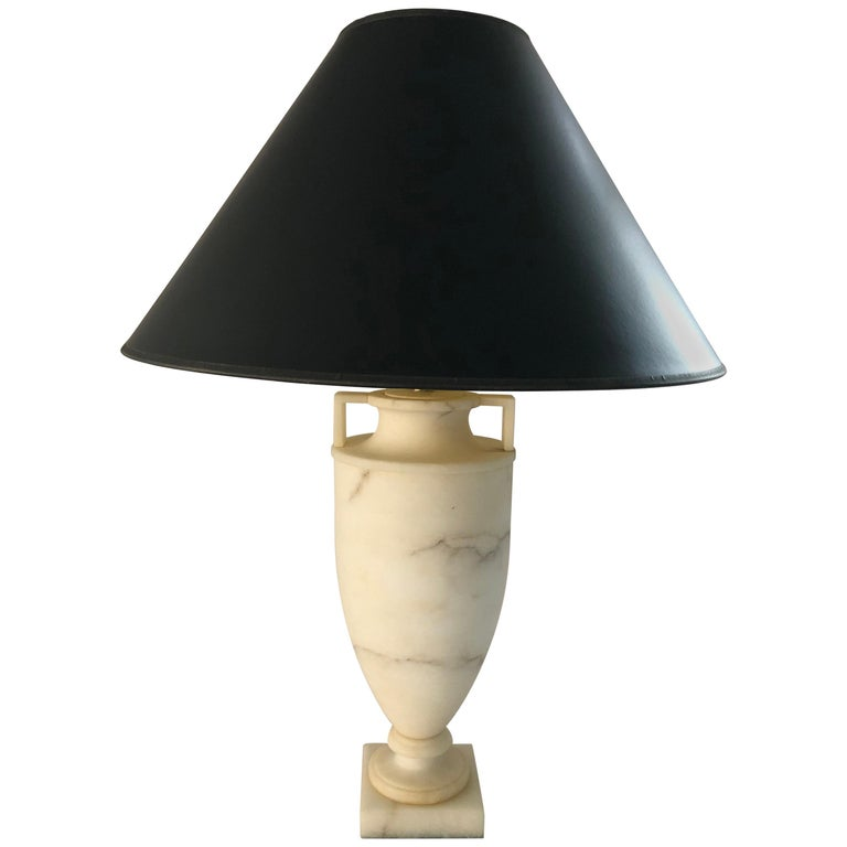 Etruscan Alabaster Urn Lamp by Vaughn For Sale