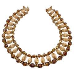 Vintage Eugene Egyptian Revival Necklace 1960s