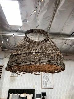 Vintage European Basket Pendant