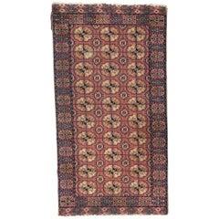 Vintage European Boukhara Design Rug