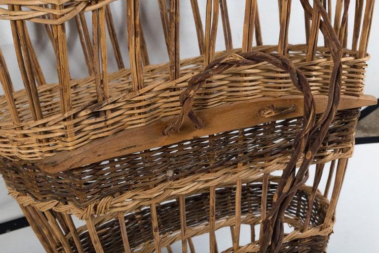 Vintage European Field Basket, 20th Century For Sale 6