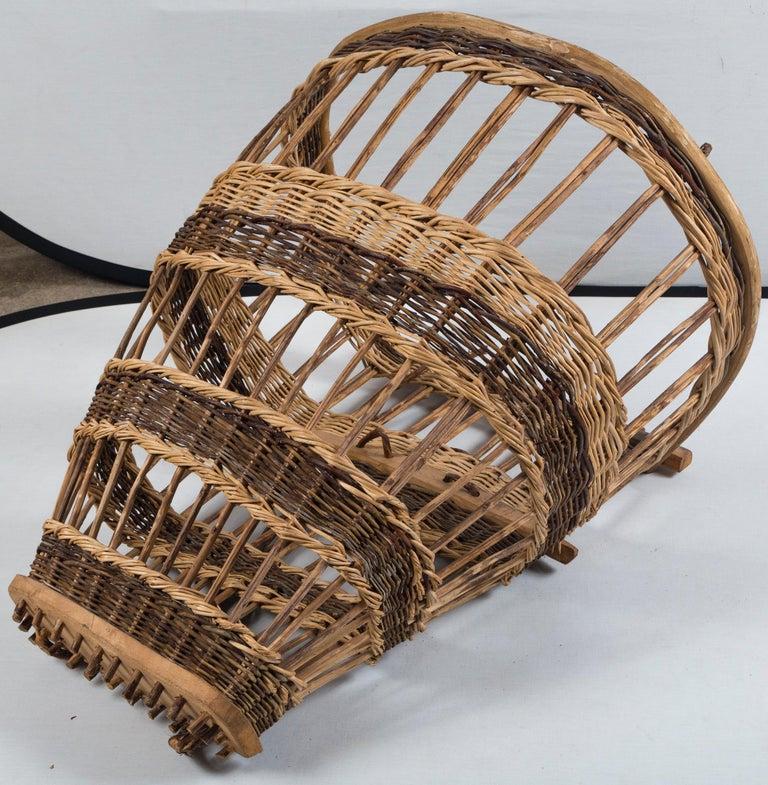 Vintage European Field Basket, 20th Century For Sale 2