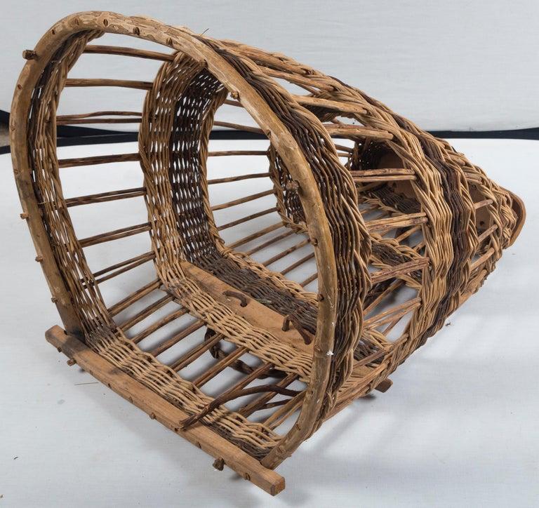 Vintage European Field Basket, 20th Century For Sale 3