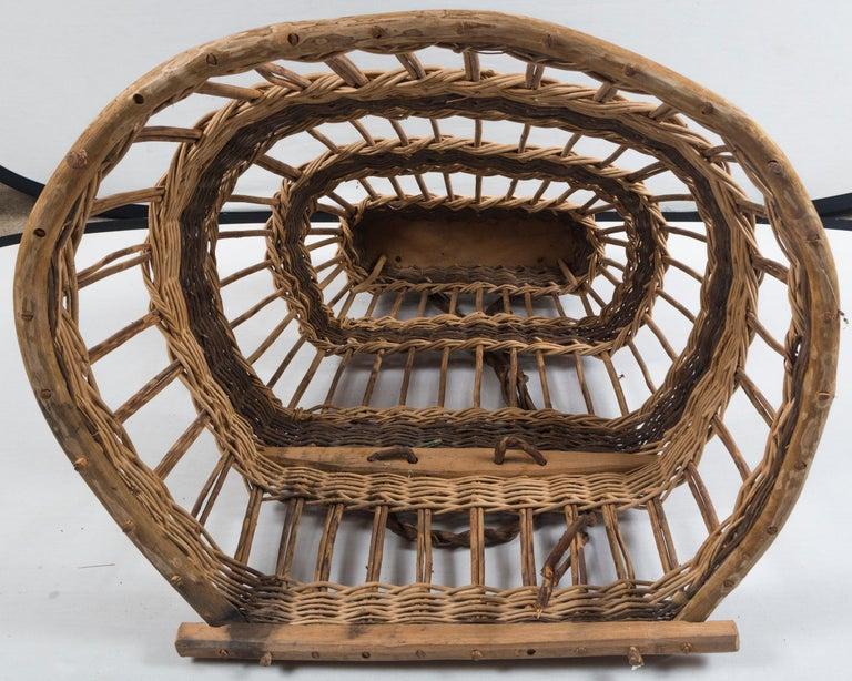 Vintage European Field Basket, 20th Century For Sale 4