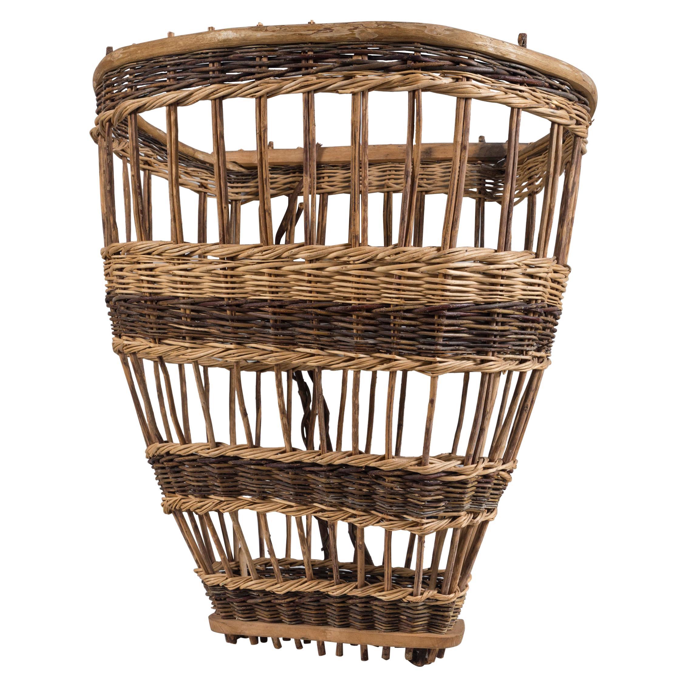 Vintage European Field Basket, 20th Century
