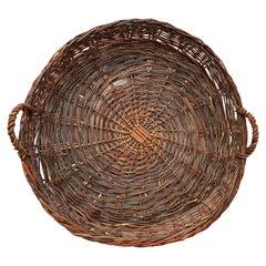 Vintage European Flat Basket
