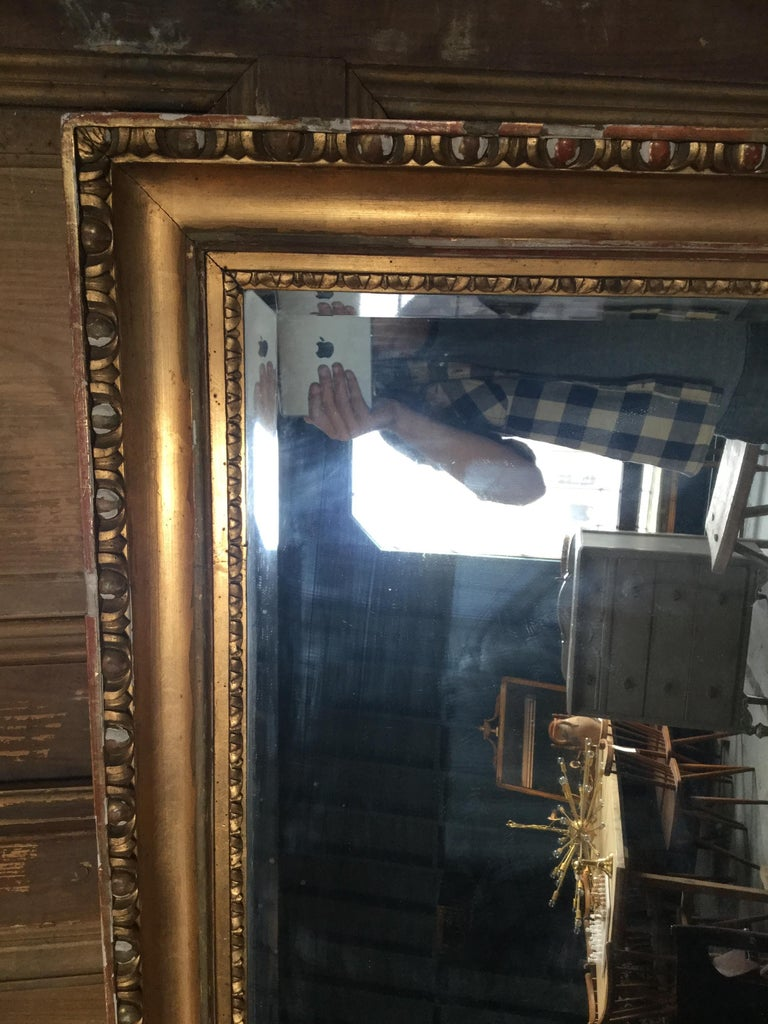 Neoclassical Vintage European Gilded Mirror For Sale